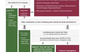 Umgang mit Erkältungs-/Krankheitssymptomen bei Kindern und Jugendlichen in Kita und Schule in Rheinland-Pfalz gültig ab 30.08.2021
